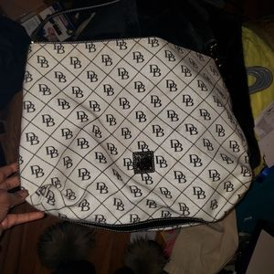 Dooney and Bourke black and white large bag